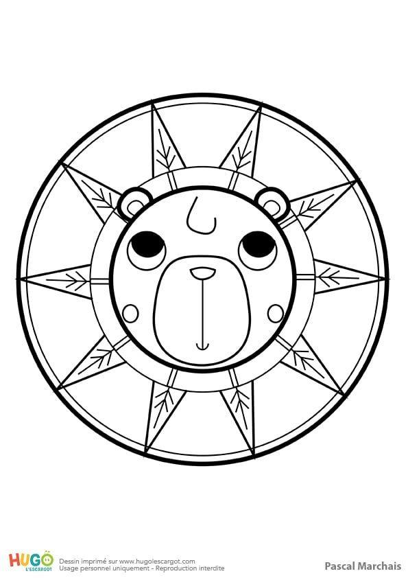 Mandala Ours, Pour Les Petits dedans Mandala Pour Petit