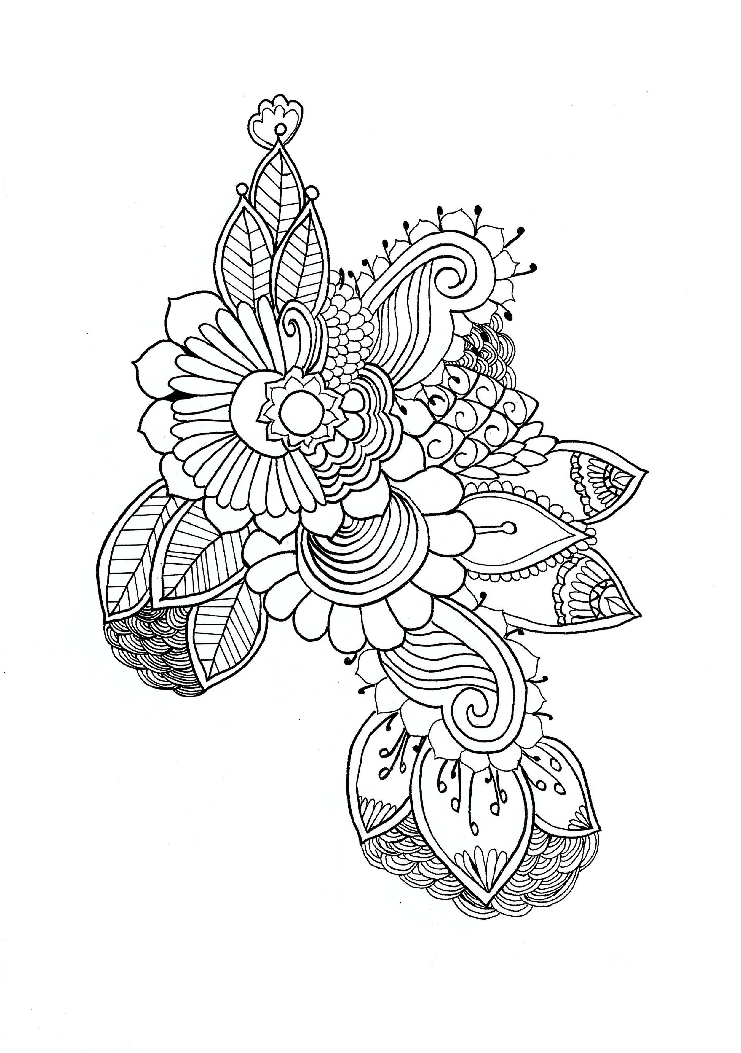 Mandala Par Chloe - Mandalas - Coloriages Difficiles Pour tout Coloriage Mandala Adulte A Imprimer