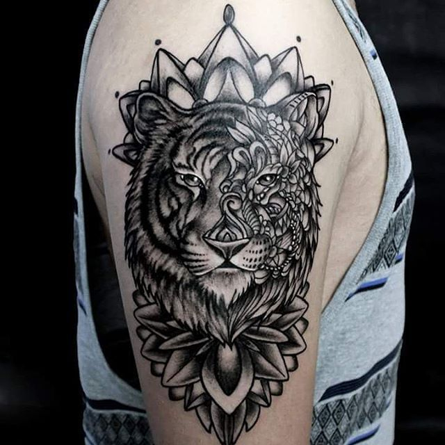 Mandala Tiger. #Tattoo #Inked #Tiger #Tigertattoo #Mandala tout Mandalas De Tigres