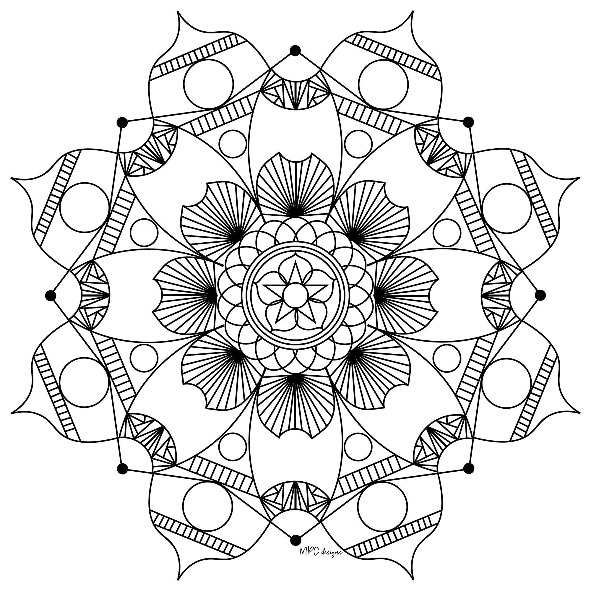 Mandala To Print & Color - Zen & Anti-Stress Mandalas concernant Coloriages Zen