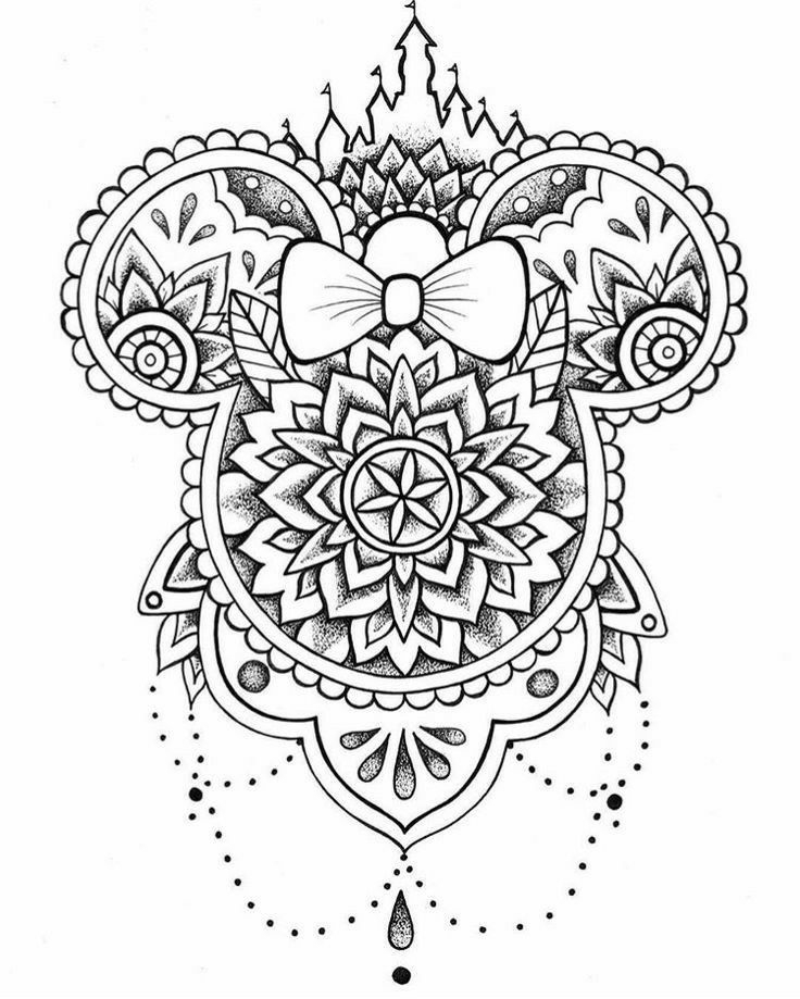Mandala | Uage Disney, Dessin Et Dessin Mickey à Coloriage Styl? ? Imprimer