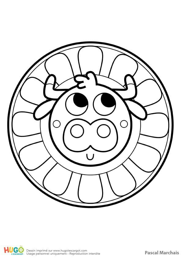 Mandala Vache, Pour Les Petits à Mandala Pour Petit