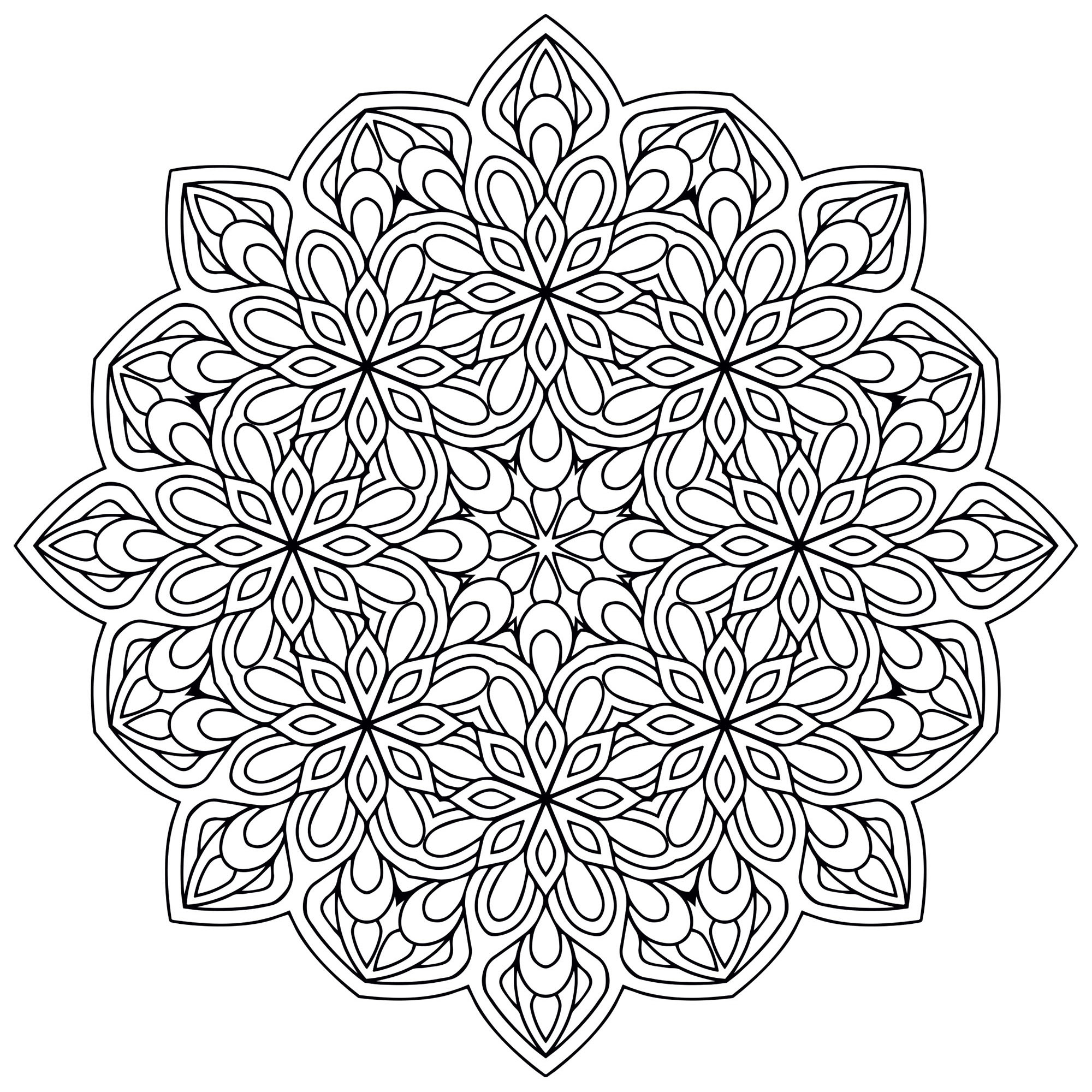 Mandala Zen Antistress 9 - Mandalas - Coloriages avec Coloriage Anti Stress Adulte