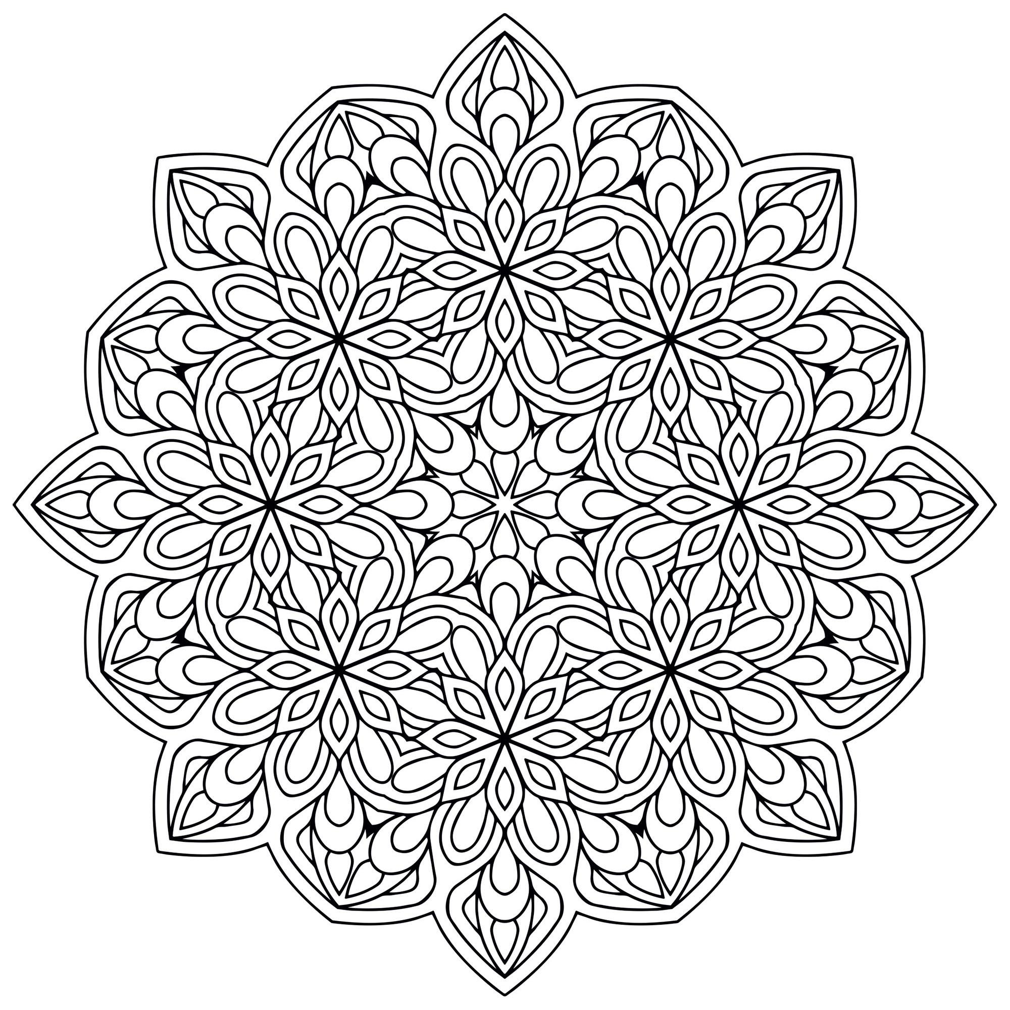 Mandala Zen Antistress 9 - Mandalas - Coloriages avec Coloriages Zen