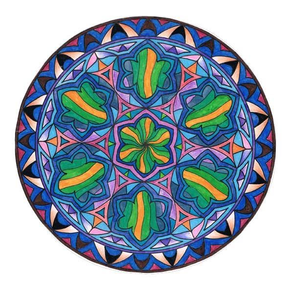 Mandalas Christian Pilastre dedans Mandala Colorié