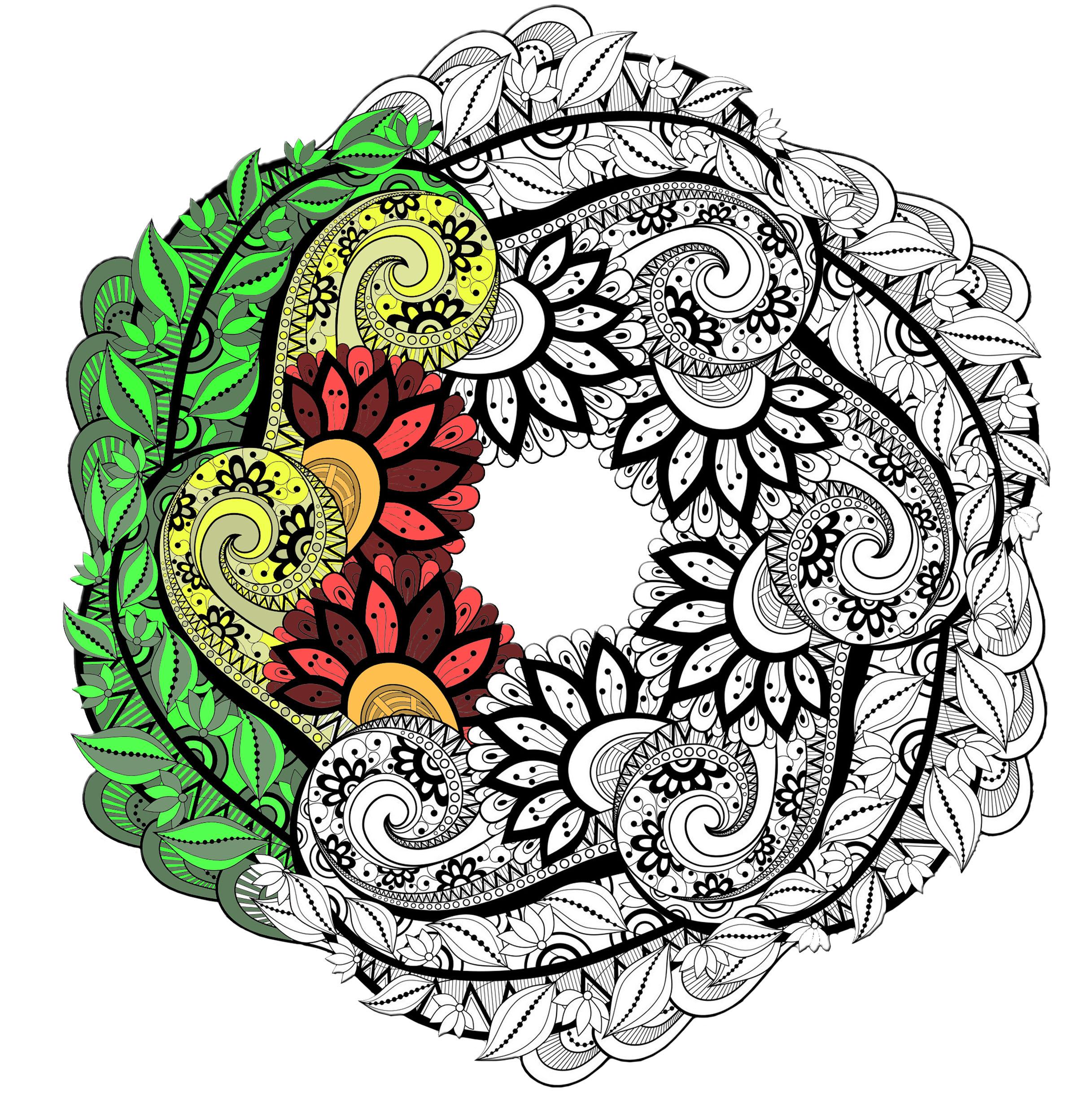 Mandalas - Coloriages Difficiles Pour Adultes | Justcolor destiné Coloriage Adultes À Imprimer