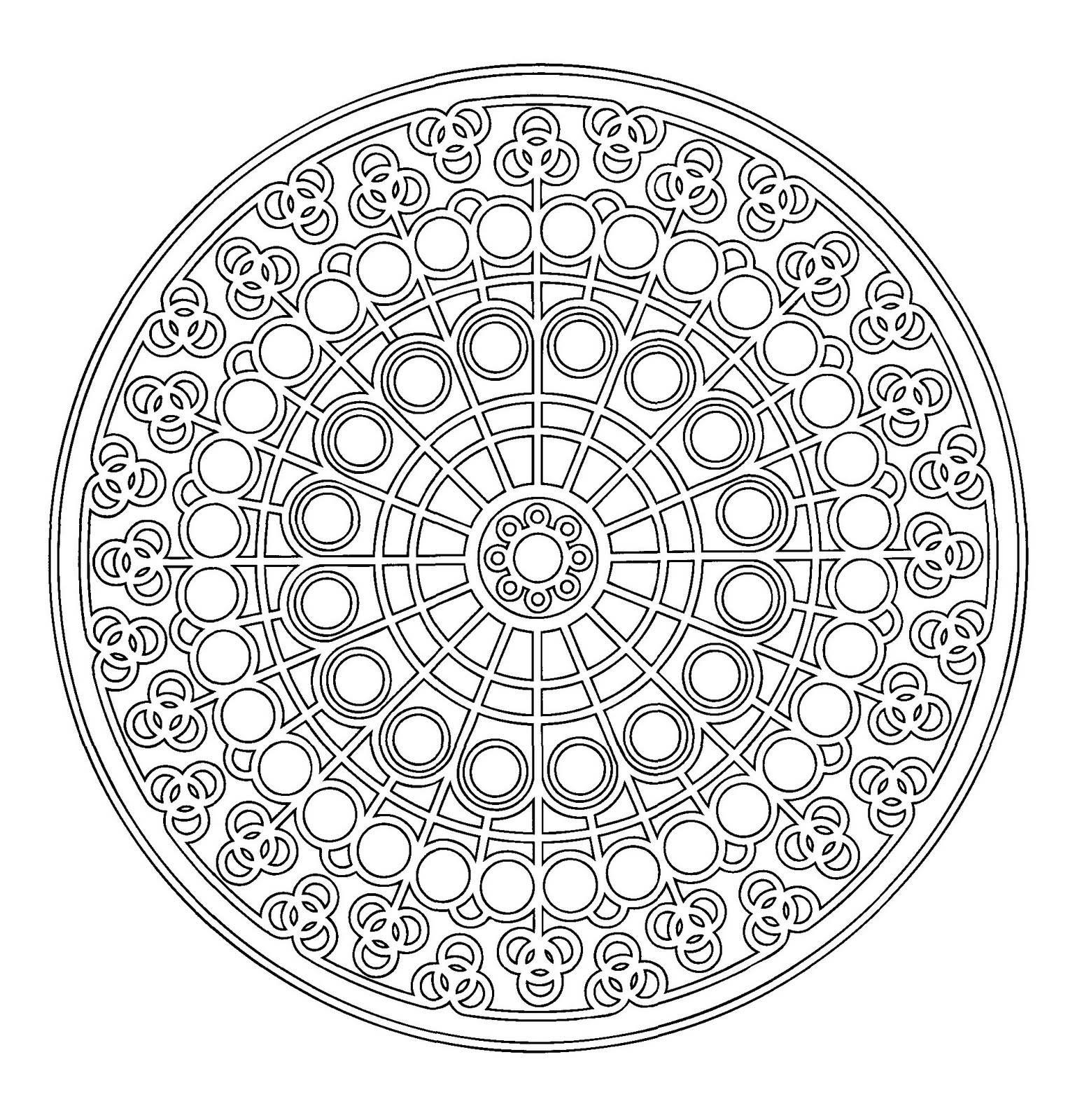 Mandalas Et Coloriages Abstraits Imprimables Pour Soulager à Mandala Coloriage