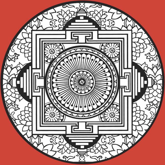 Mandalas Gemglow Stained Glass Coloring Book Dover serapportantà 100 Greatest Mandala Coloring Book:
