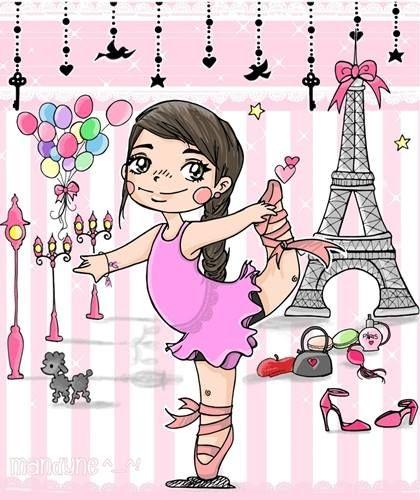 Mandyne Petite Danseuse Étoile Fan De Paris (Avec Images pour Dessin Animé Danseuse