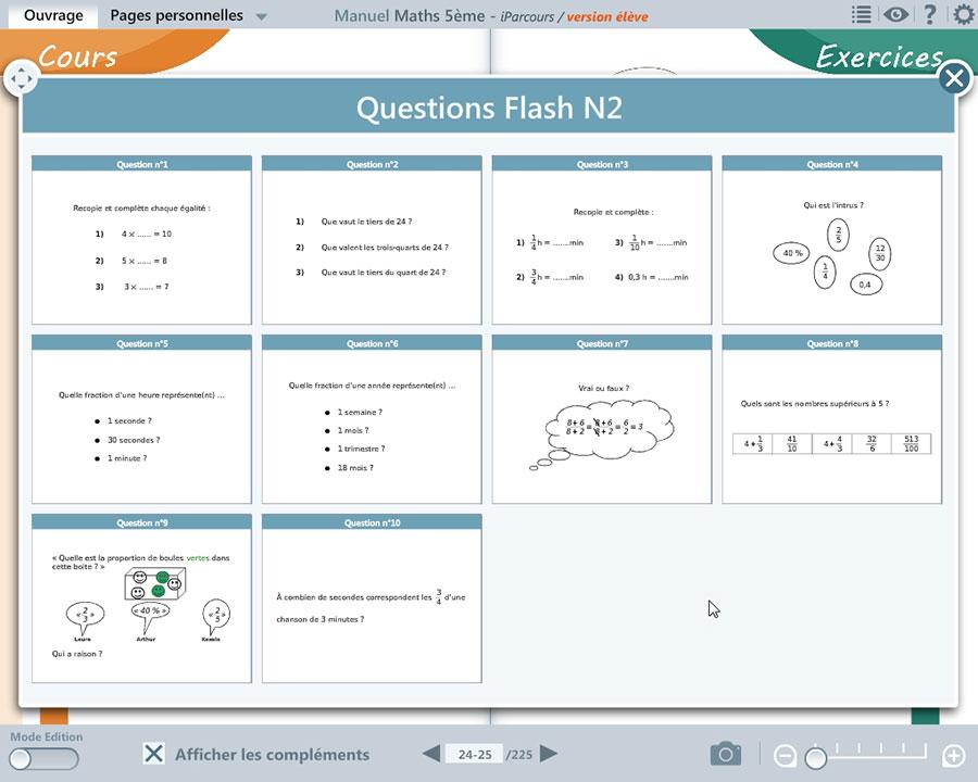 Manuel Numérique Iparcours Maths 5E (Éd. 2016) Pour L destiné Manuel Exercices Iparcours Pdf