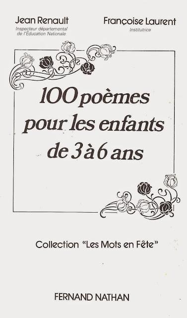 Manuels Anciens: Renault, Laurent, 100 Poèmes Pour Les avec Vive Les Vacances Poeme Pour Enfant