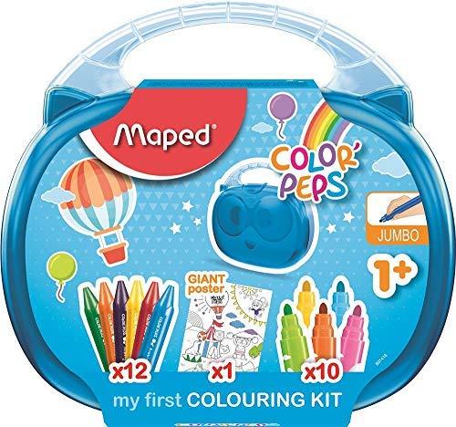 Maped Color'Peps Malette De Coloriage Pour Bébé Et Enfant dedans Kit Coloriage Enfant