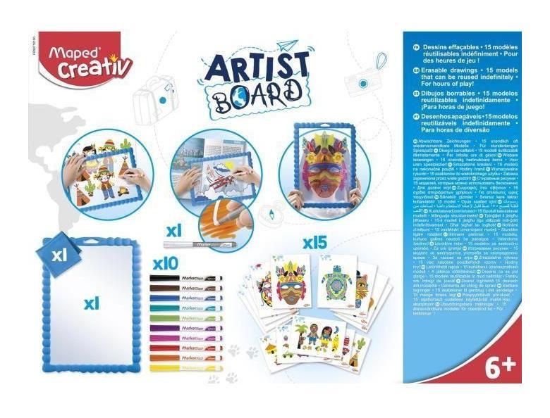 Maped Creativ - Artist Board - Ardoise Dessins Effacables encequiconcerne Coloriage Ardoise