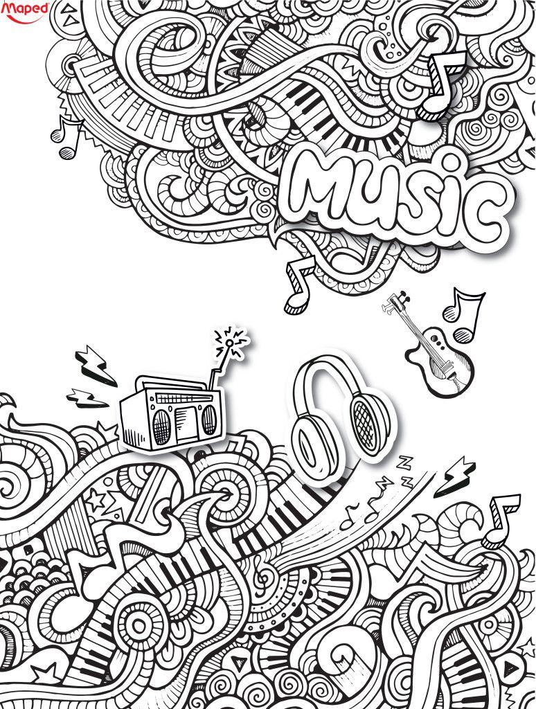 Maped En Musique | Coloriage Musique, Dessin De Musique tout Book Coloriage