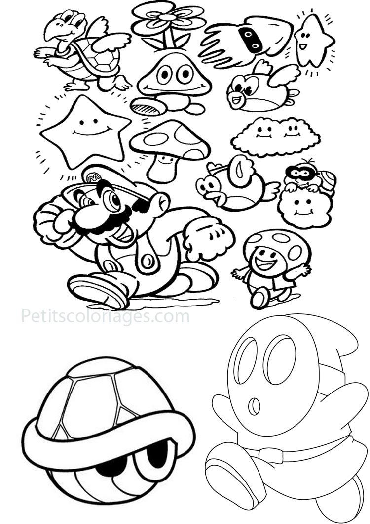 Mario Bonus And Monster In The Games - Mario Bros Kids tout Coloriage Mario Kart