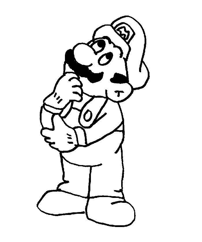 Mario Coloring Pages Collection 2010 pour Coloriage De Mario Et Luigi