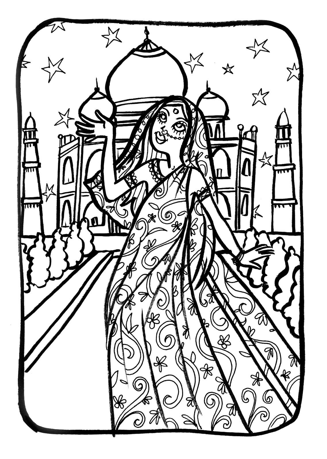 Marion De Castillon: Coloriage Du Mercredi : Une Princesse serapportantà Dessin Orchidée À Imprimer