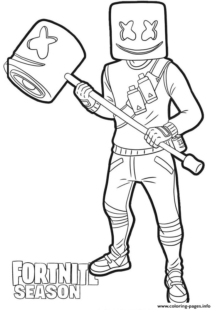 Marsh Walk From Fortnite Coloring Pages Printable dedans Coloriage De Fortnite