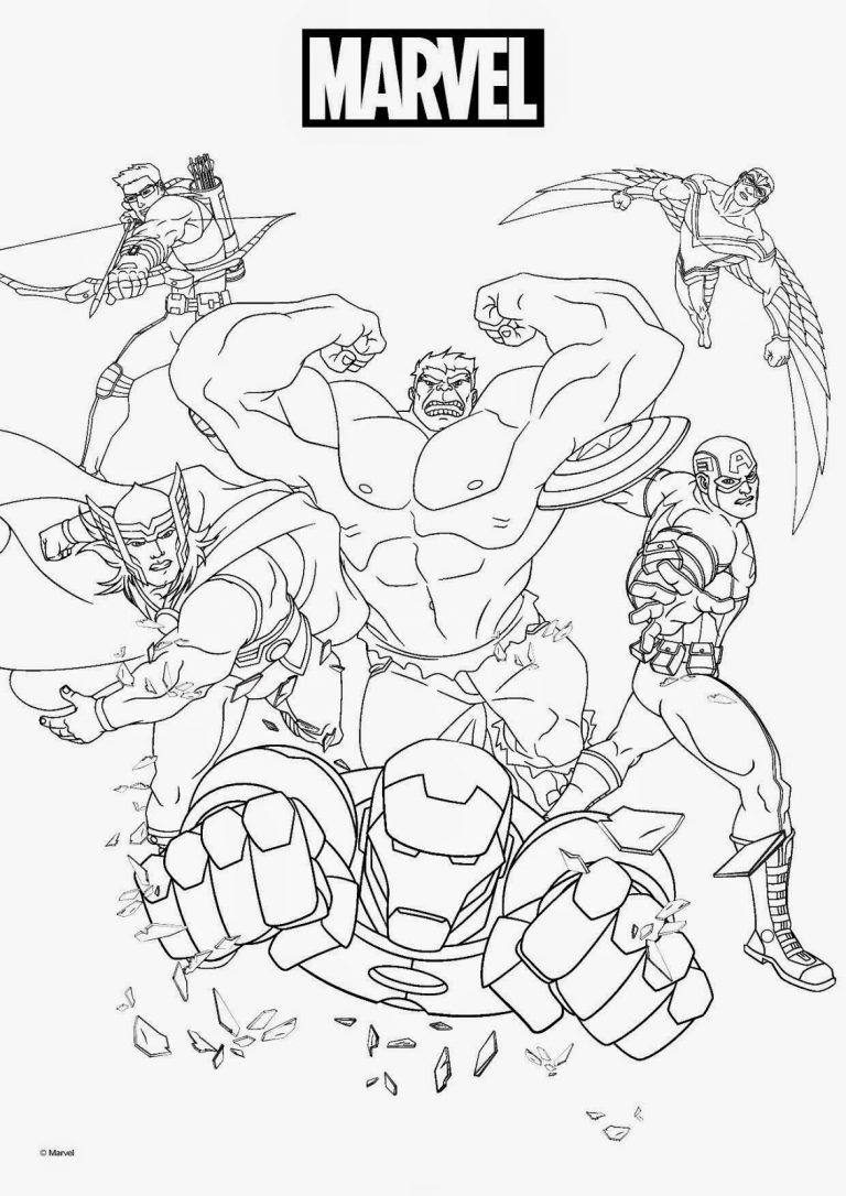 Marvel Coloring Pages | Superhero Coloring Pages tout Coloriage Avangers