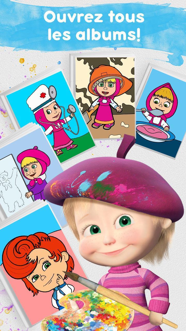 Masha Et Michka: Jeux De Coloriage Enfant Gratuit Pour encequiconcerne Jeux Coloriage Android