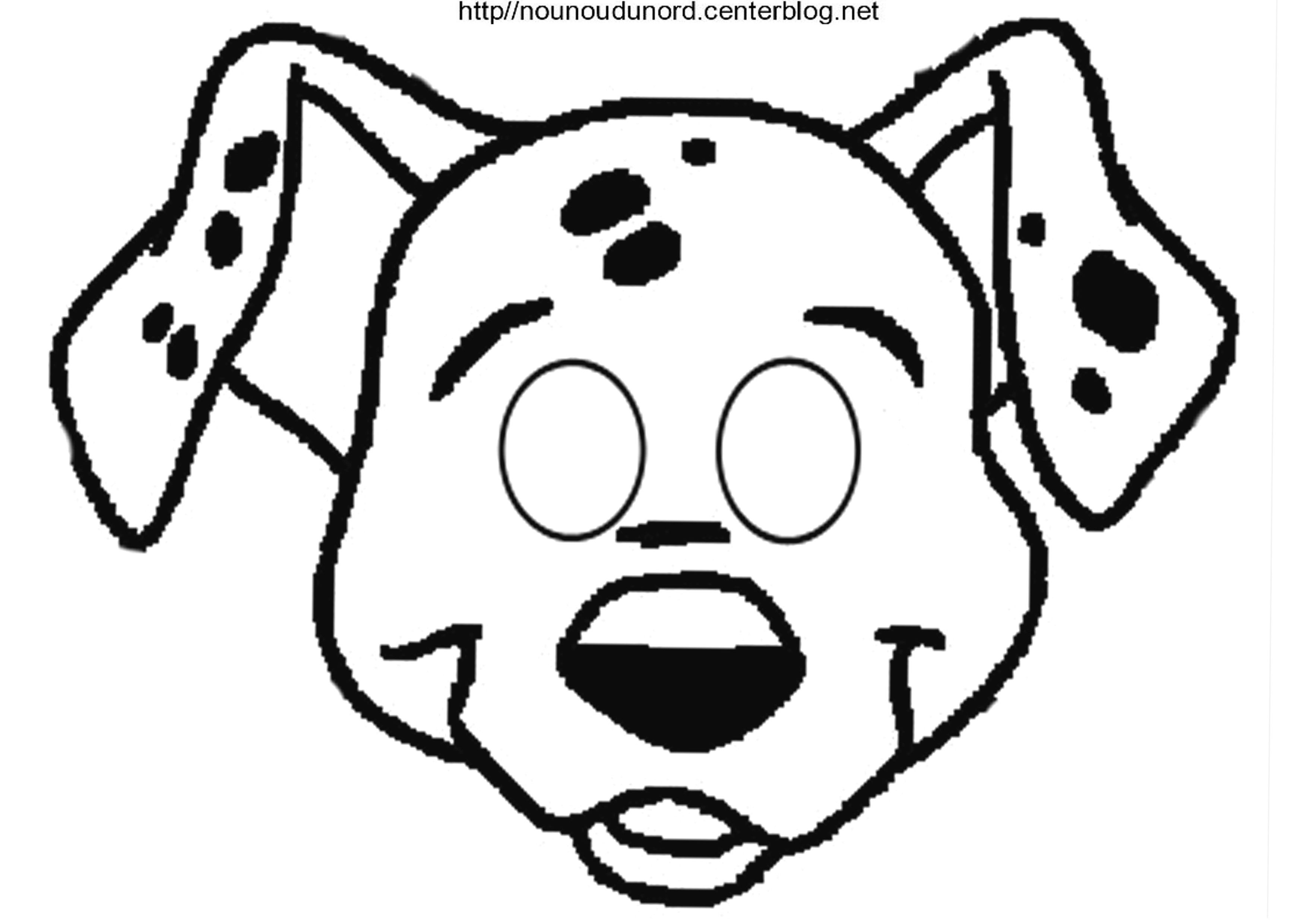 Masque 101 Dalmatiens destiné Dessin De Tete De Chien