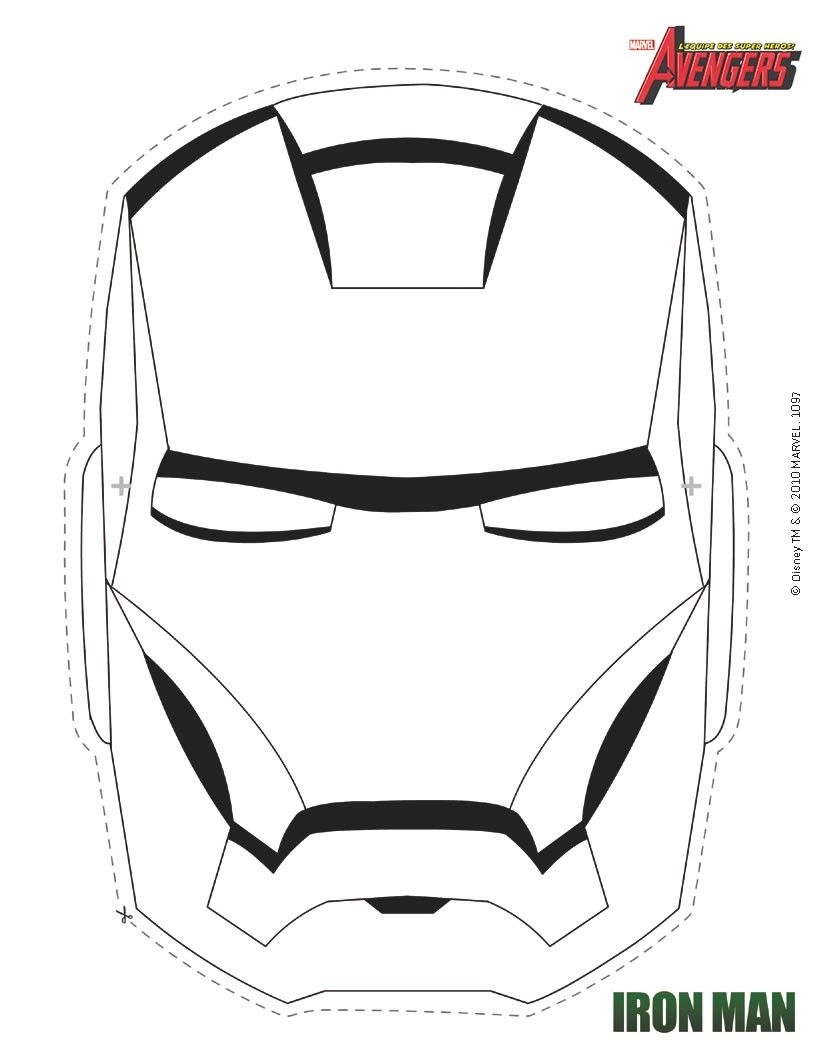 Masque À Imprimer : Masque D'Iron Man À Colorier encequiconcerne Masque Super Héros A Imprimer