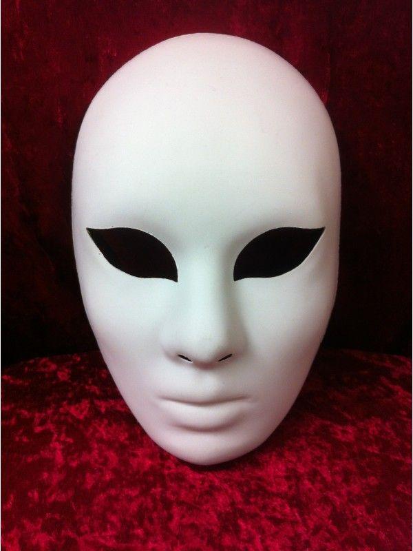 Masque Blanc Volto À Personnaliser - Masque Vénitien avec Fabrication Masque Halloween