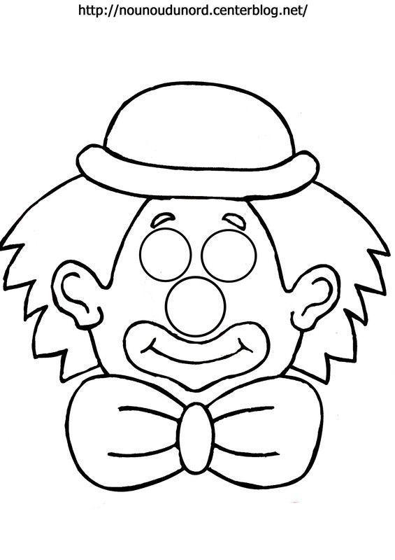 Masque Clown À Imprimer dedans Dessin Carnaval A Imprimer