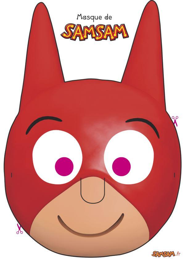Masque De Samsam À Fabriquer à Masque Super Héros A Imprimer