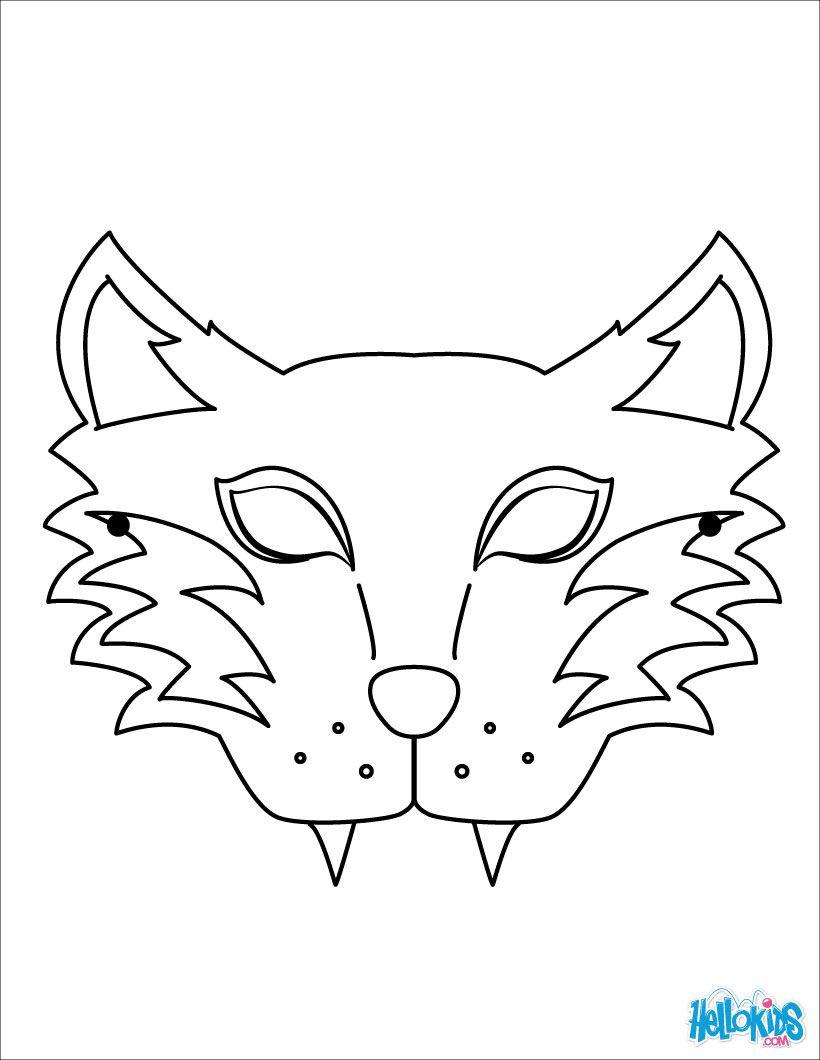 Masque De Tigre - Tiger Mask | Coloriage, Coloriage Enfant encequiconcerne Masque D Animaux À Colorier