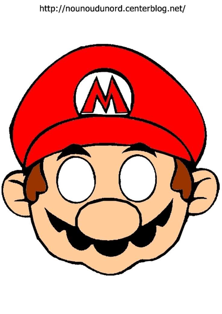 Masque Mario À Imprimer | Masque A Imprimer, Super Mario pour Masque Super Héros A Imprimer
