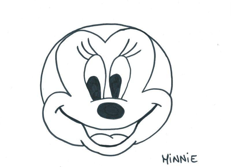Masque Minnie intérieur Coloriage Tete Mickey