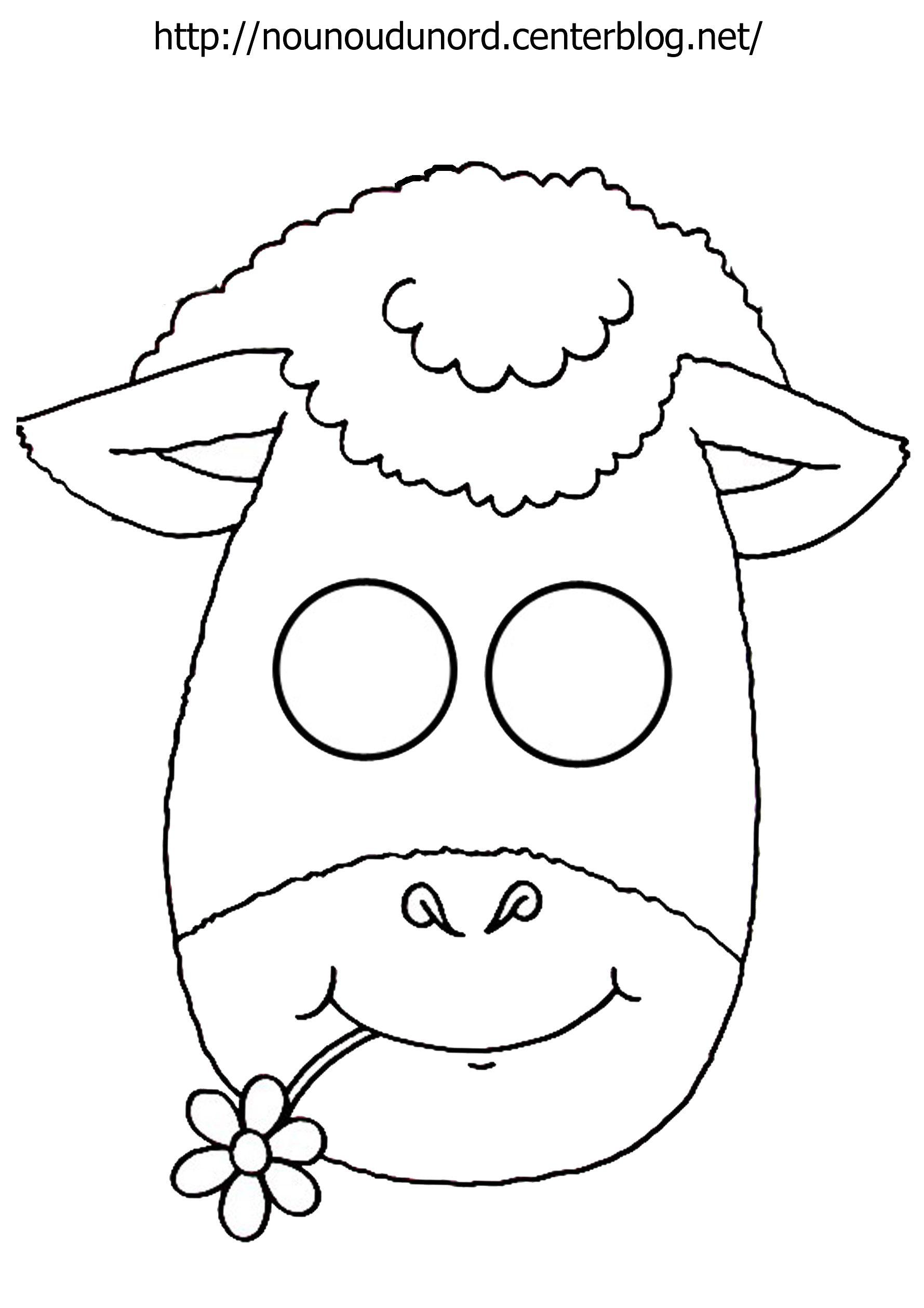 Masque Mouton À Imprimer dedans Masque Enfant A Imprimer