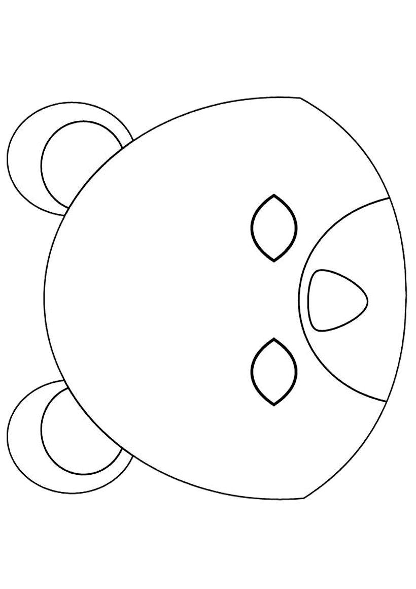 Masque Ours | Masque Ours, Coloriage Masque, Masque à Masque D Animaux À Colorier