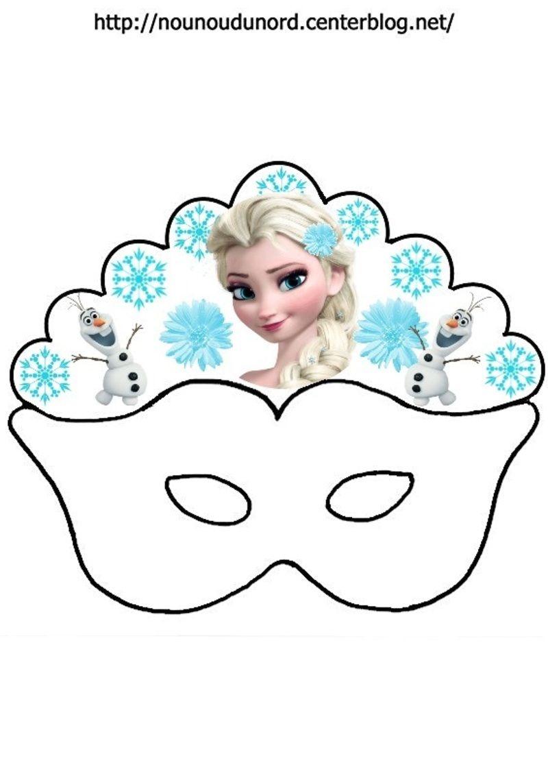 Masque Reine Des Neiges Elsa, Olaf | Reine Des Neiges avec Jeux De Reine Des Neige Gratuit