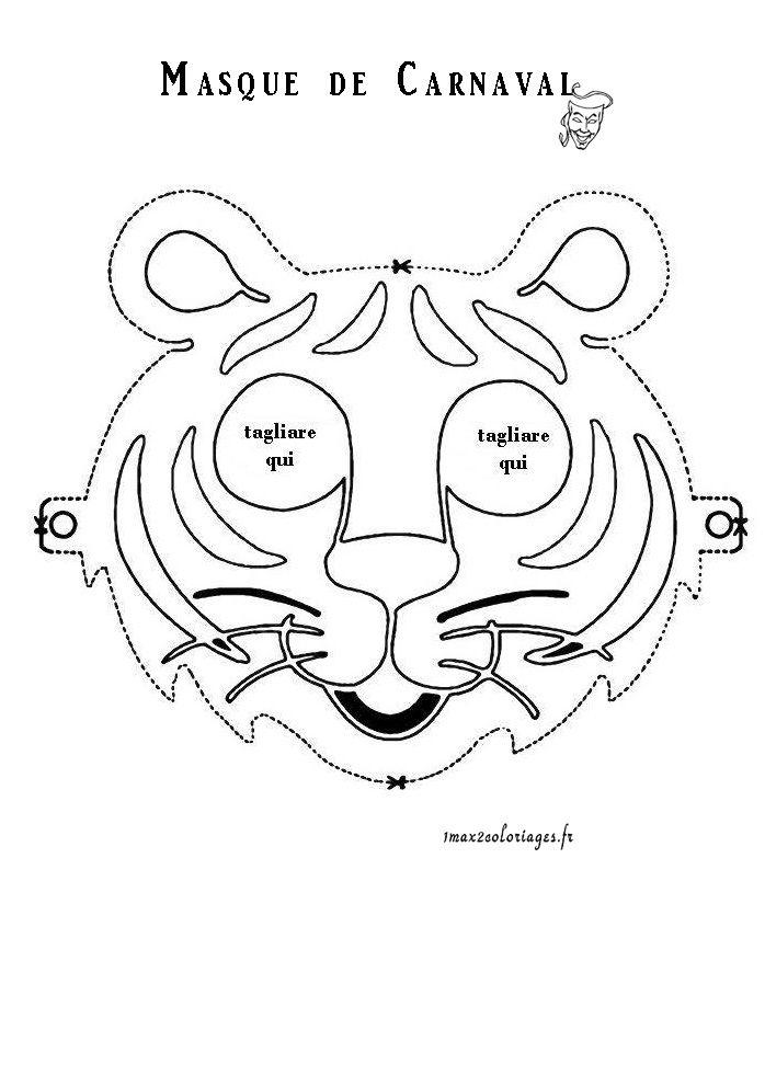 Masque Tigre Coloriage | Coloriage Masque, Coloriage destiné Masque Enfant A Imprimer