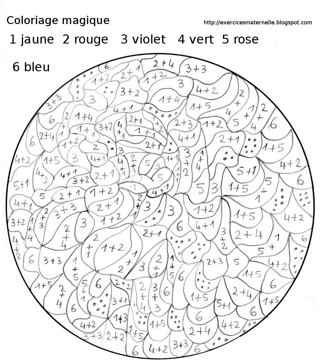 Maternelle: Coloriage Magique, Iris à Coloriage Mystere Adulte