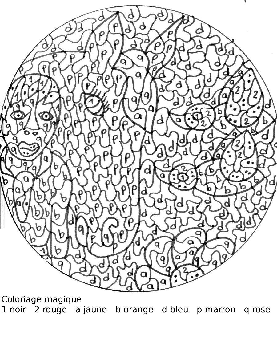 Maternelle: Coloriage Magique : La Dame Et Le Cheval avec Mandala Cm2