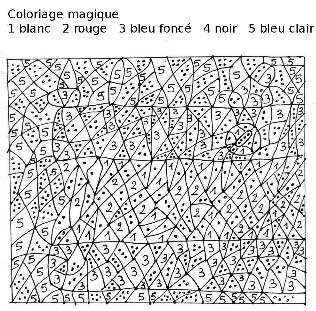 Maternelle: Coloriage Magique, Loup tout Coloriage Magique Gratuit