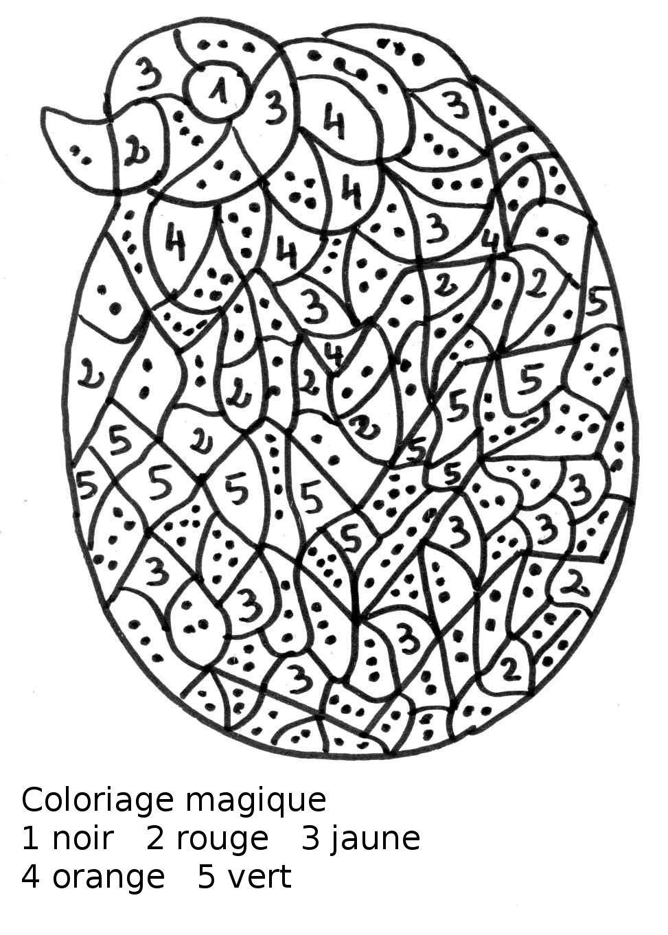 Maternelle: Coloriage Magique Maternelle, Oeuf De Pâques avec Oeufs De Paques À Colorier