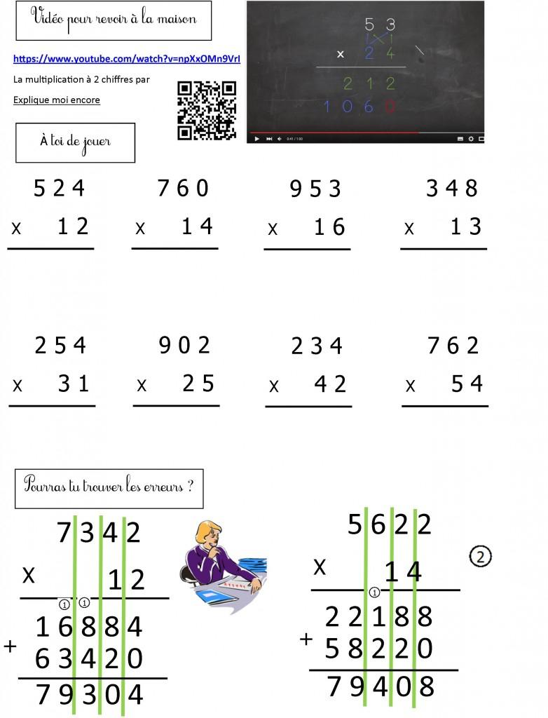 Mathématiques Ce2   Le Blog De Monsieur Mathieu avec Exercice Table De Multiplication A Imprimer Gratuitement