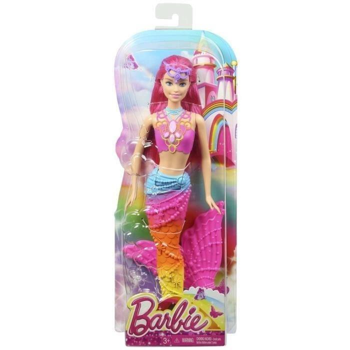 Mattel Barbie Sirène Arc En Ciel - Comparer Avec destiné Barbie Sirene A La Plage Translation