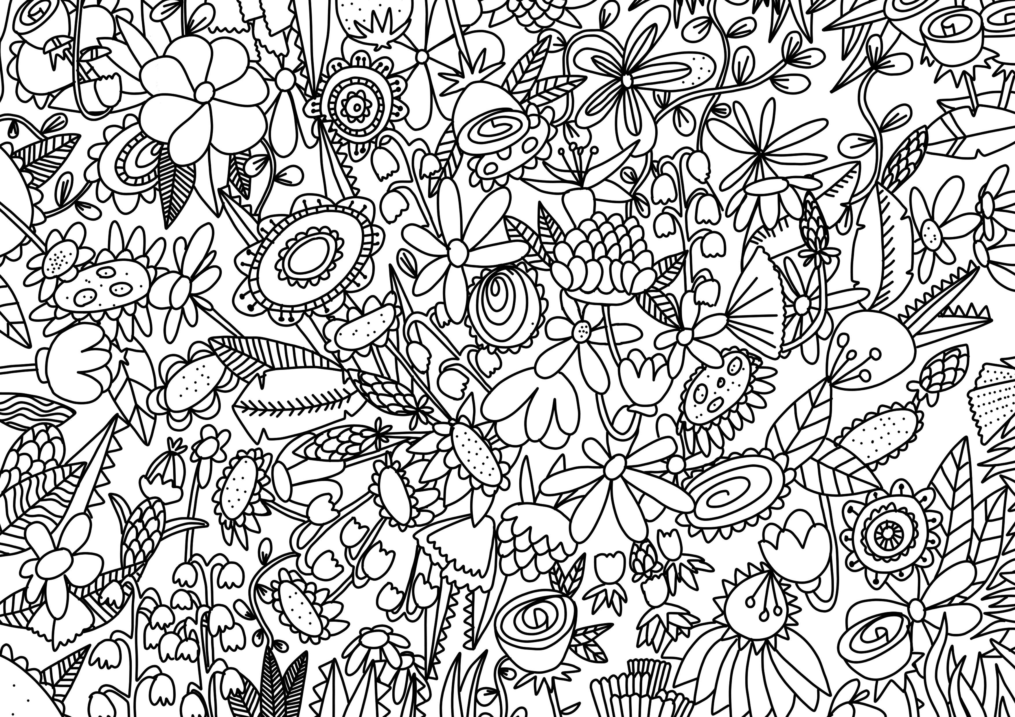 Medias.elle.fr Thotnet Elle Coloriage Coloriage%20Fleurs concernant Coloriage Fleur