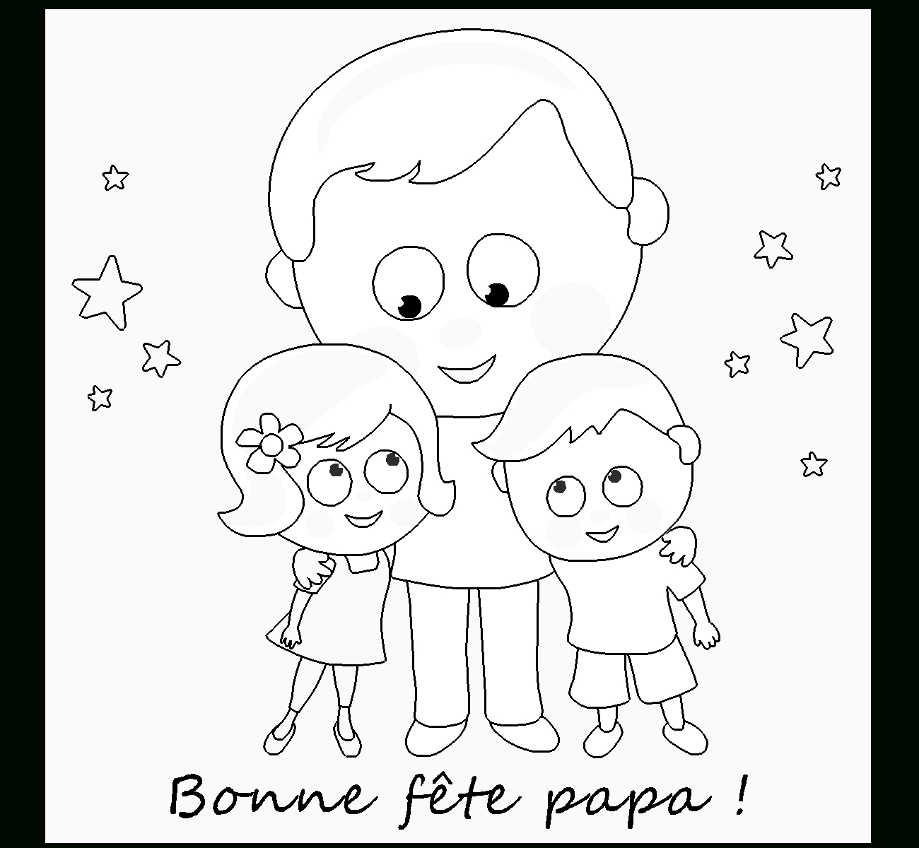 Meilleur De Coloriage Bonne Fete Papa A Imprimer Gratuit avec Bonne F?Te Papa ? Imprimer