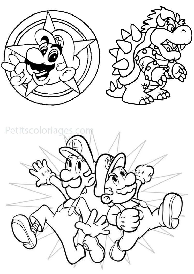 Meilleur De Coloriage Mario Fleur De Feu | 30000 avec Coloriage De Mario Et Luigi