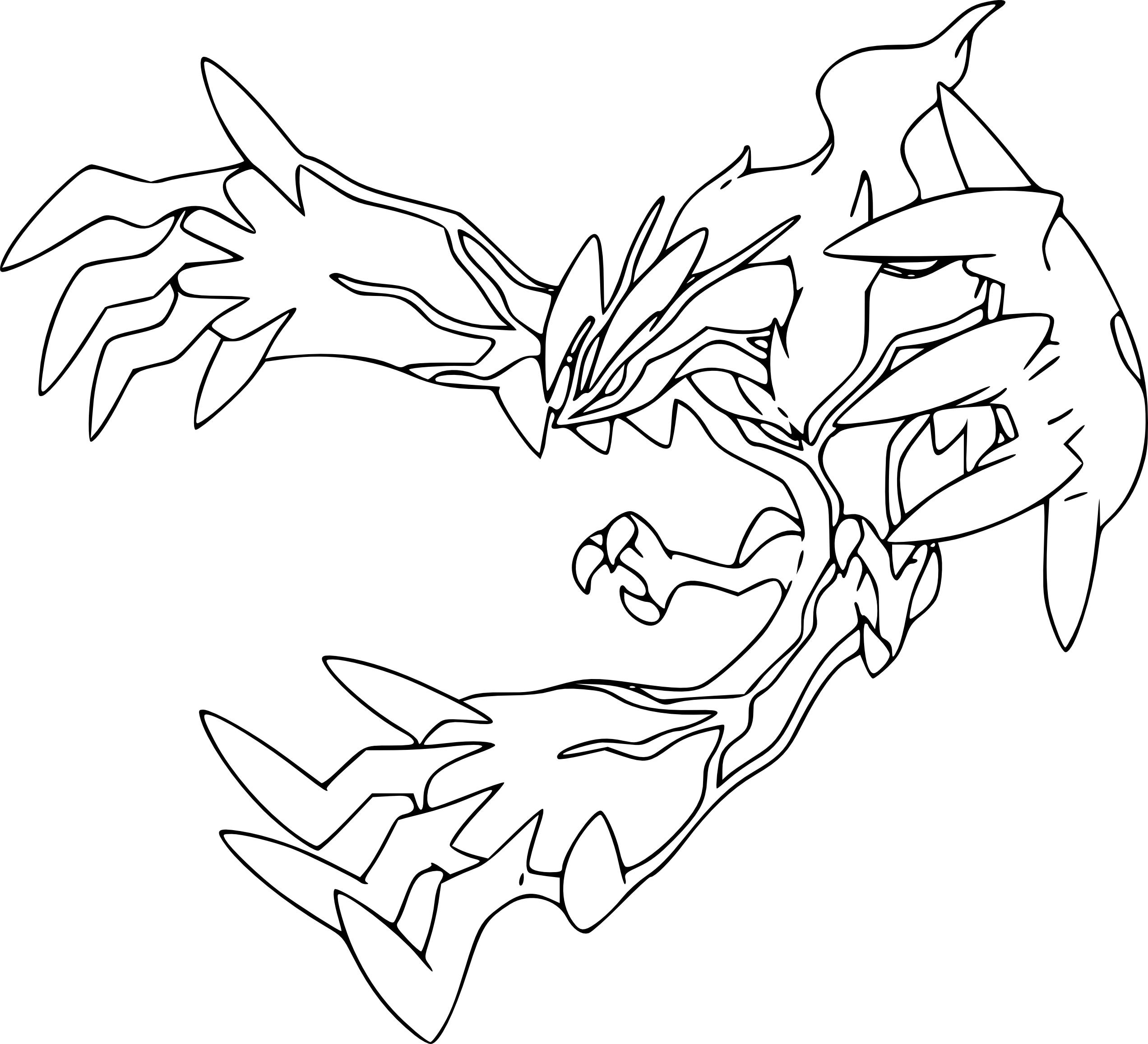 Meilleur De Coloriage Pokemon Yveltal A Imprimer | Haut à Coloriage Pokemon A Imprimer