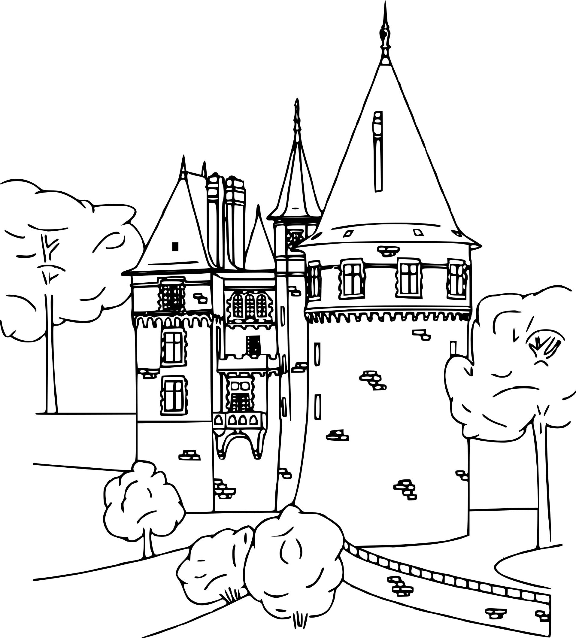 Meilleur De Image A Colorier Chateau Fort tout Coloriage Chateau Hanté