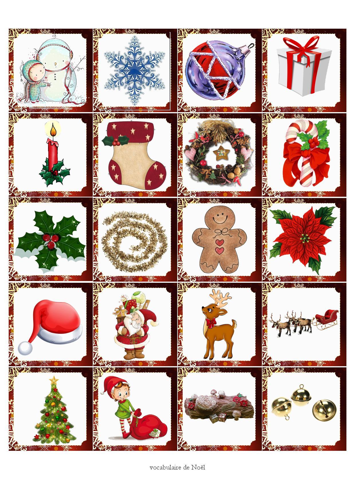 Mémory De Noël - Fiches De Préparations (Cycle1-Cycle 2-Ulis) tout Jeux De Mémory À Imprimer