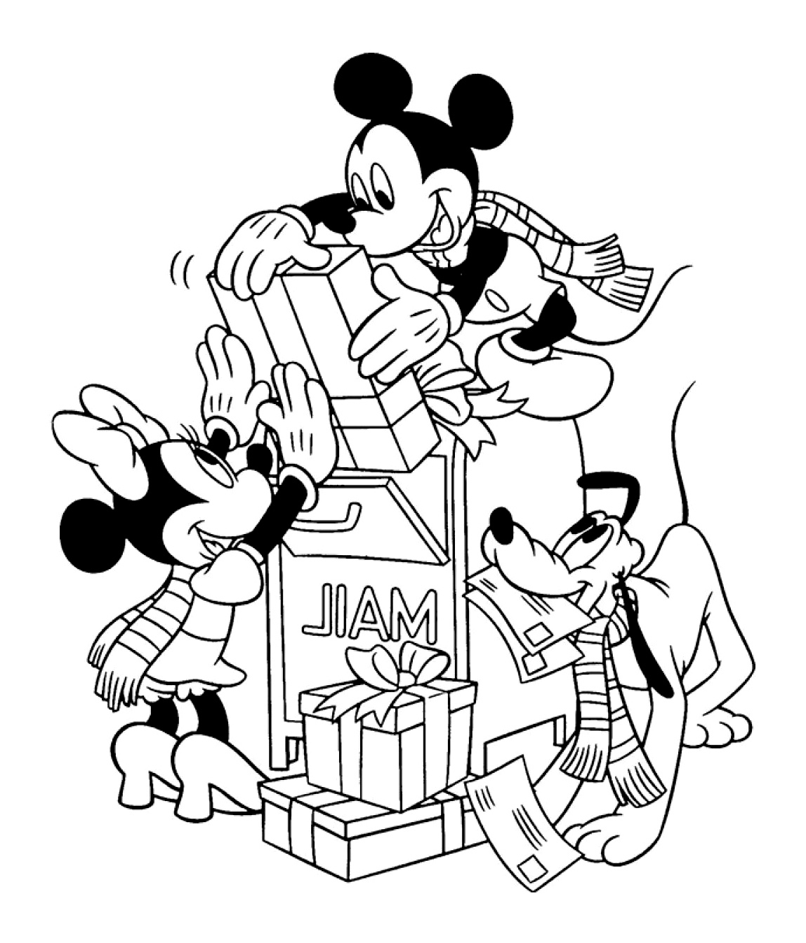 Mickey And His Friends To Download - Mickey And His avec Minnie A Colorier