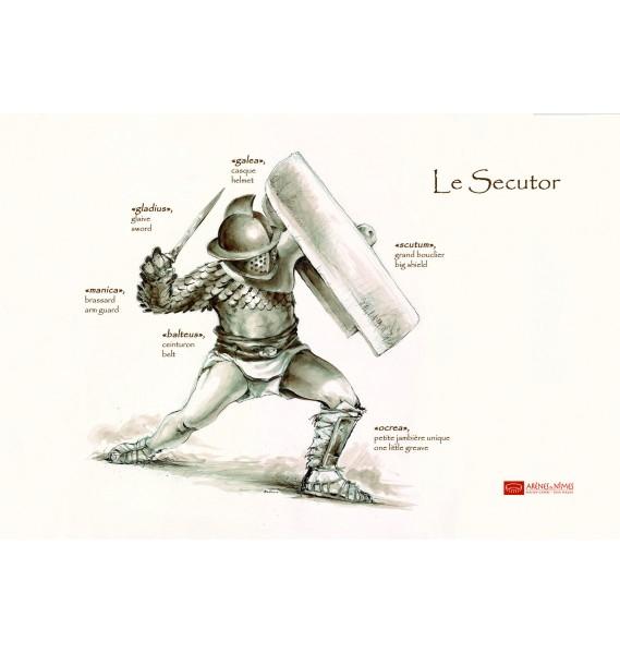 Microfibres Les Gladiateurs Des Arènes De Nîmes destiné Gladiateur Dessin